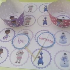 Topper e Wranner cupcakes