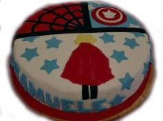 torta spider capitan america supersamu