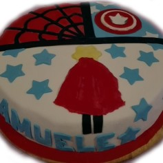 torta spider capitan america supersamu